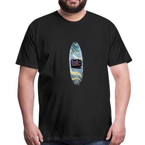 Surfbrett Retro, für Männer und Frauen - Männer Premium T-Shirt