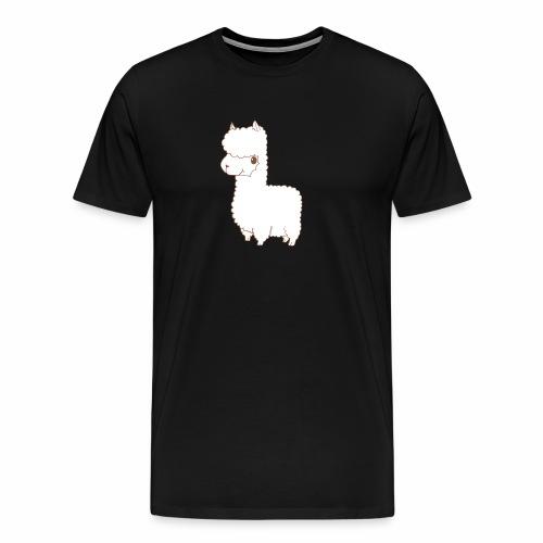 Alpaca scribble - Männer Premium T-Shirt