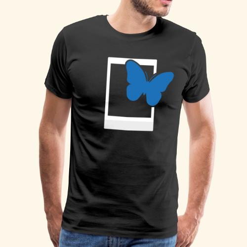 Sofortbild Fotografie - Blauer Schmetterling 2 - Männer Premium T-Shirt