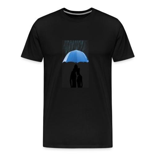 Love under the umbrella - Mannen Premium T-shirt