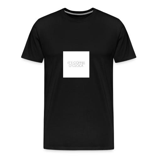 zwarte mok met tekst - Mannen Premium T-shirt
