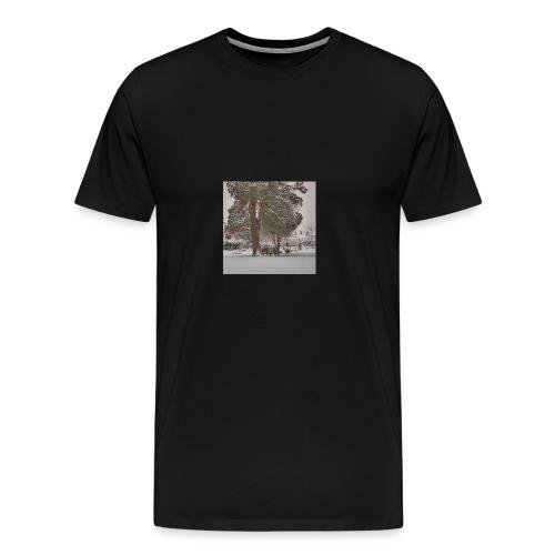Graveyard In Winter - Men's Premium T-Shirt