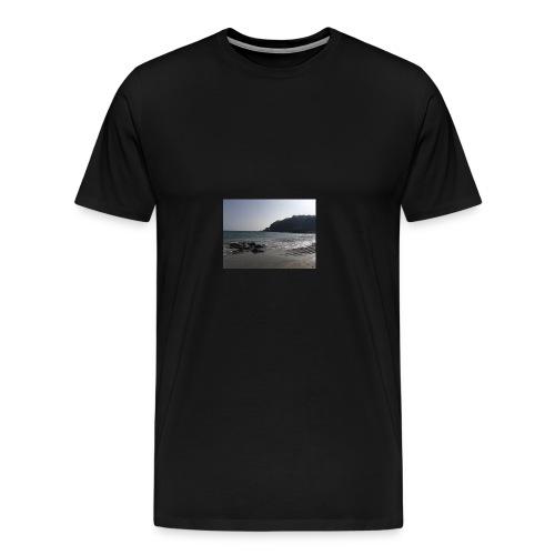 Guernsey Channel Island Beach - Men's Premium T-Shirt