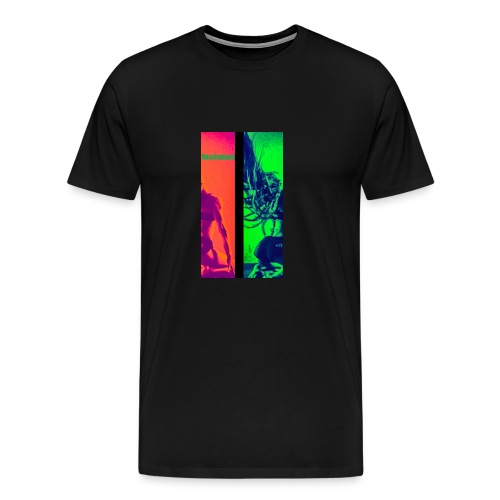 Pop-Art Double Flash Color twist New Neon - Männer Premium T-Shirt