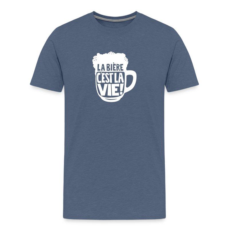 tee-shirt la bière c'est la vie sous forme de bock