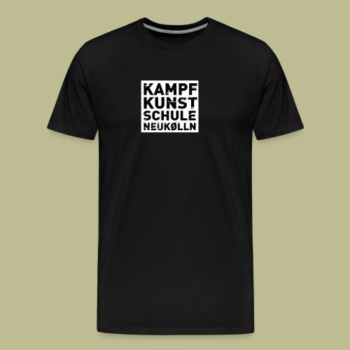 Kampfkunstschule Neukölln Logo mit Hintergrund - Männer Premium T-Shirt
