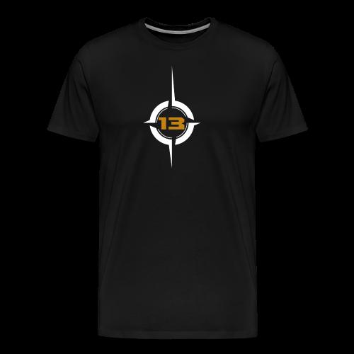 KV13-Logo white - Männer Premium T-Shirt