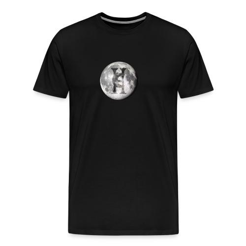 Haunted Company Moon Engraved - Men's Premium T-Shirt