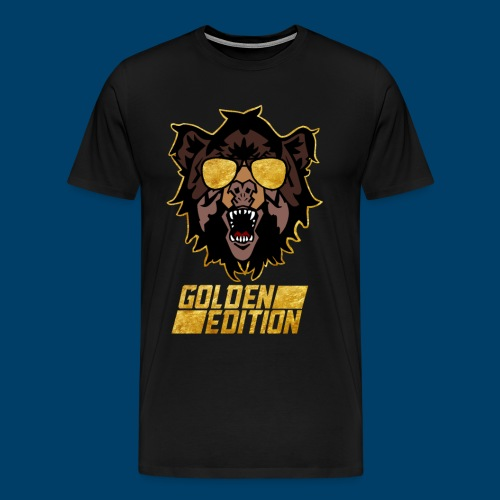 The Grizzly Beast: Golden Edition - Men's Premium T-Shirt