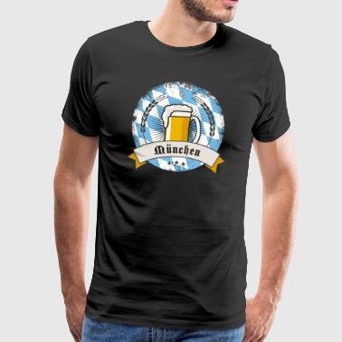München Oktoberfest olutpuutarha olut kolpakko wiesn pi - Miesten premium t-paita
