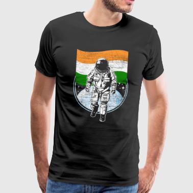 Flaga Indii w przestrzeni Astronauta - Koszulka męska Premium