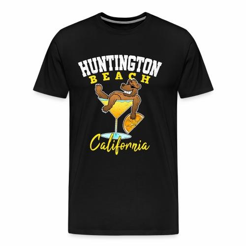 Huntington Kalifornien Bär Cocktail Urlaub Party - Männer Premium T-Shirt