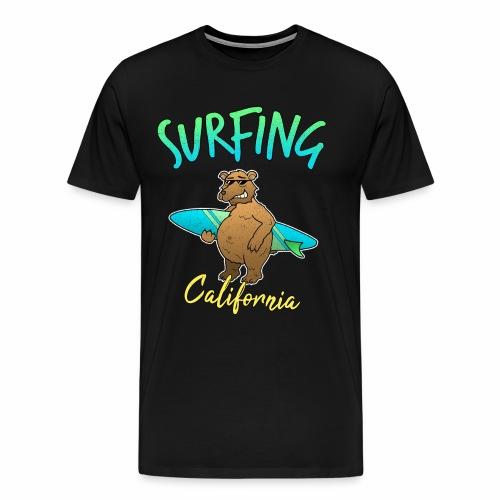 Surfen Kalifornien Bär Meer Urlaub Surfer - Männer Premium T-Shirt