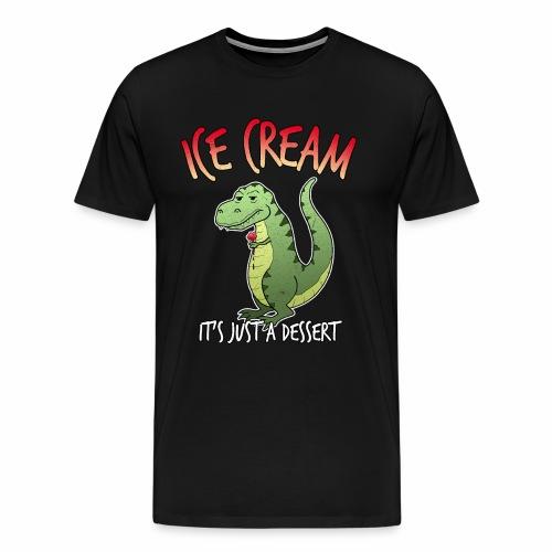 Eiscreme Eis T-Rex Dinosaurier Dessert Lustig - Männer Premium T-Shirt