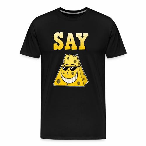 Käse Bitte Lächeln Fotograf Fotografieren Geschenk - Männer Premium T-Shirt