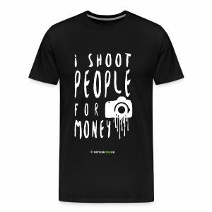I shoot people! - Mannen Premium T-shirt