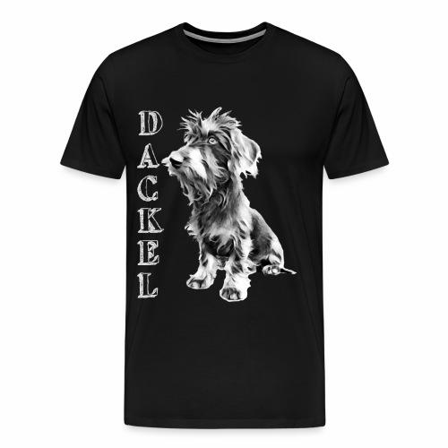 Dackel die besten Hunde der Welt Dackelfieber - Männer Premium T-Shirt