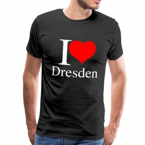 I Love Dresden - Ich liebe Dresden - Männer Premium T-Shirt