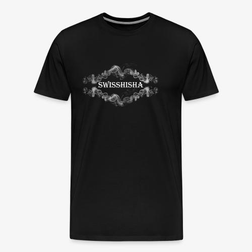 weisse Schrift auf schwarzem Grund - Männer Premium T-Shirt