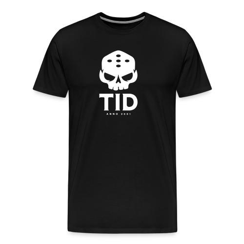 Tid tryck Vitt - Premium-T-shirt herr