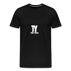 True Young Hoodie Black | Unisex - Mannen Premium T-shirt