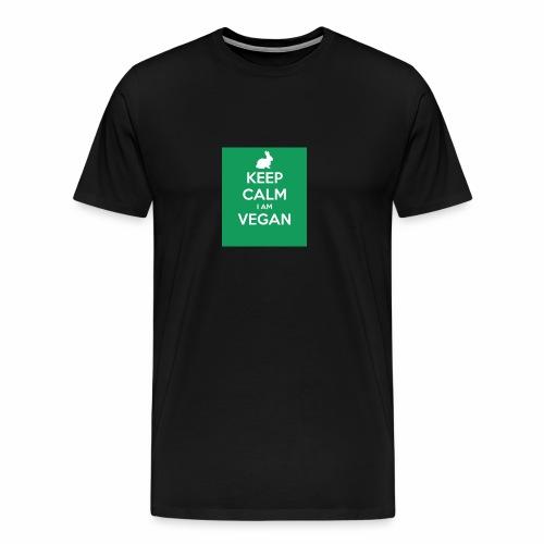 keep calm i am vegan 3 - T-shirt Premium Homme
