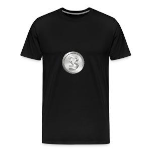 Burst Silver - Mannen Premium T-shirt