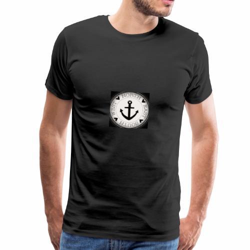 maritim anker wadeco wandtattoo x - Männer Premium T-Shirt