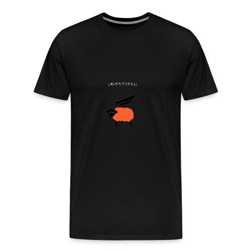 Schoofseggel (gross mit Schriftzug) - Männer Premium T-Shirt