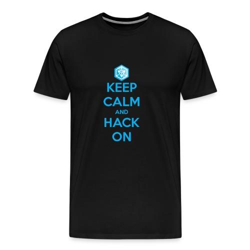 keep calm and hack on - Maglietta Premium da uomo