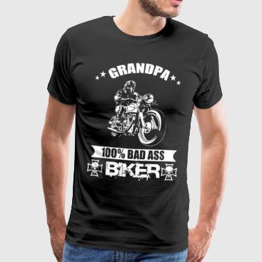 Biker bedstefar - Herre premium T-shirt