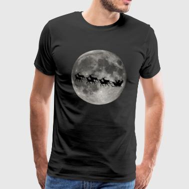 Christmas moon - Santa Claus moonlight - Men's Premium T-Shirt