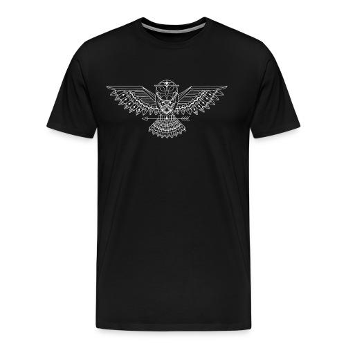 grafische uil wit - Mannen Premium T-shirt