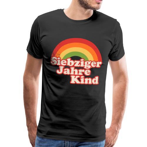 70er Kind Regenbogen - Männer Premium T-Shirt