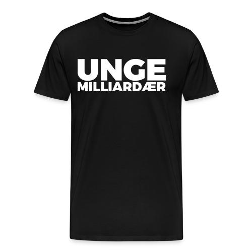 unge-mill-logo-hvit - Premium T-skjorte for menn
