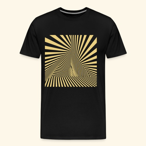Pyramiden Dimension Vektor T-Shirt - Männer Premium T-Shirt