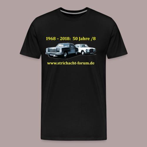 50jahre /8 strichacht-forum.de in gelb - Männer Premium T-Shirt