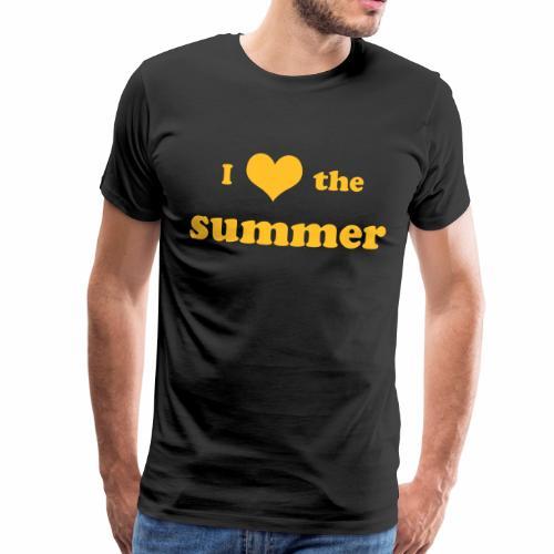 I love the summer - Männer Premium T-Shirt