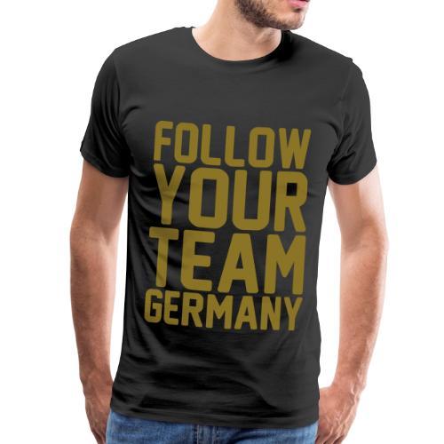 Name Follow your Team Germany Gold - Männer Premium T-Shirt