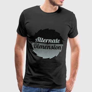 Alternativ dimensjon (Gross) - Premium T-skjorte for menn