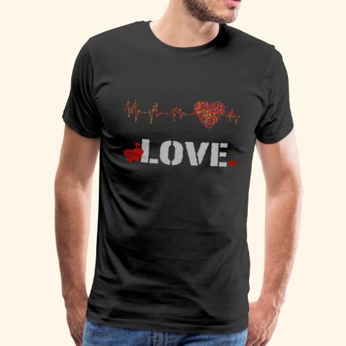 love herzfrequenz - Männer Premium T-Shirt