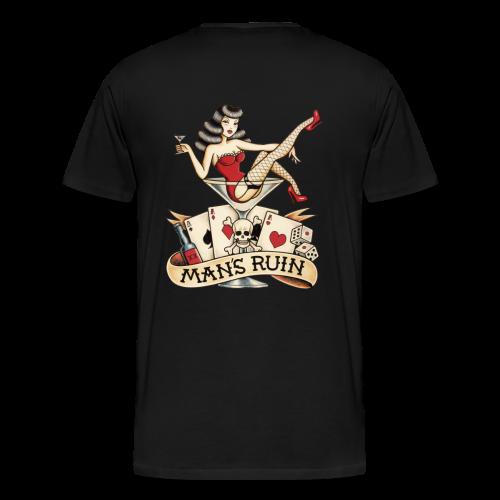 MARTINI GIRL TATTOO - Men's Premium T-Shirt