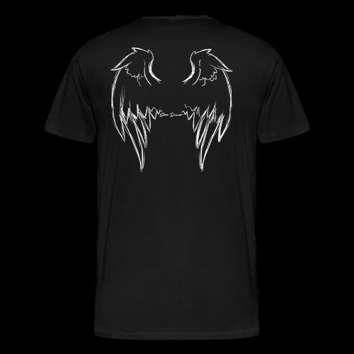 Flügel (Engel) - weiß - Männer Premium T-Shirt