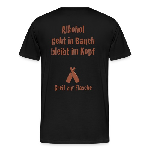 Alkohol - bleibt im Kopf - Männer Premium T-Shirt