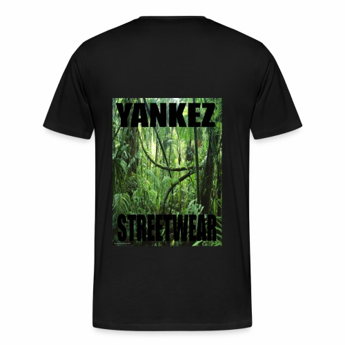 Yankez Backprint Jungle - Männer Premium T-Shirt