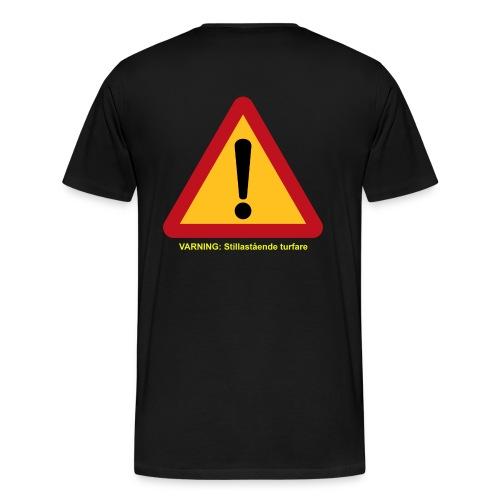 VarningTurfare - Premium-T-shirt herr