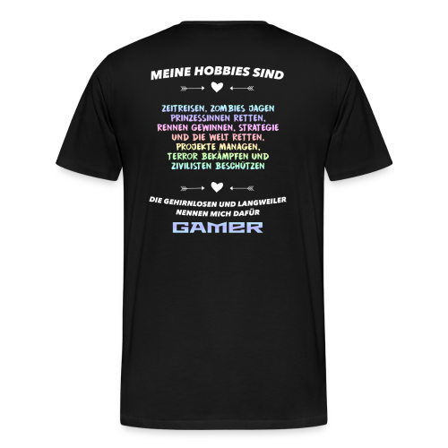 Meine Hobbys - Männer Premium T-Shirt