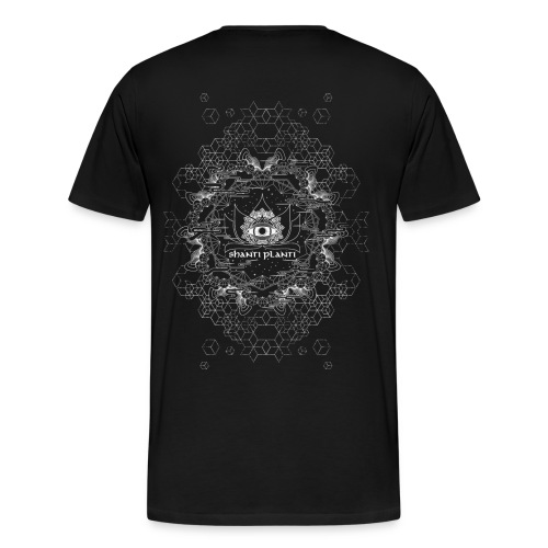 shanti planti organic print on back - Men's Premium T-Shirt