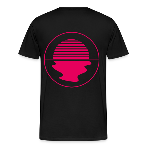 Noctunal Logo Hotpink - Mannen Premium T-shirt