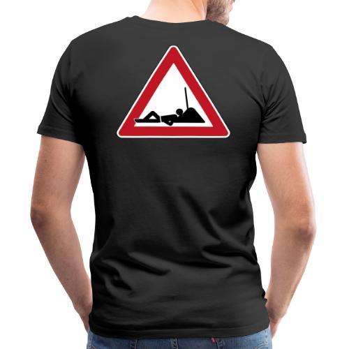 Pause Bauschild - Männer Premium T-Shirt